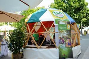 2013 auf der BIORAMA FAIR FAIR – und euch heuer ist Bio Austria wieder in der Kuppel zu Gast.  Bild: Futurum Domes